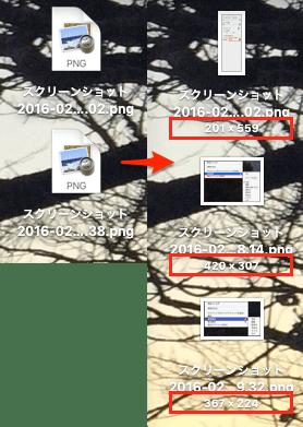 Mac 項目の情報・アイコンプレビュー表示