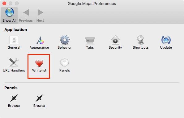 FluidアプリGoogleマップ設定変更1