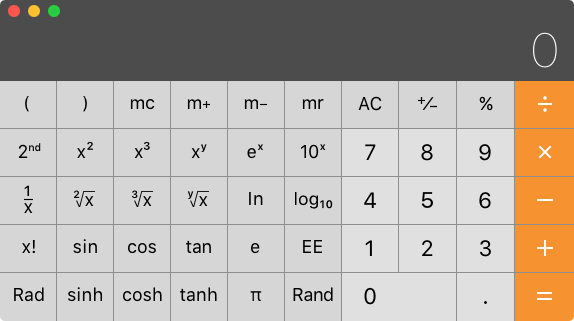 Mac計算機アプリ科学計算