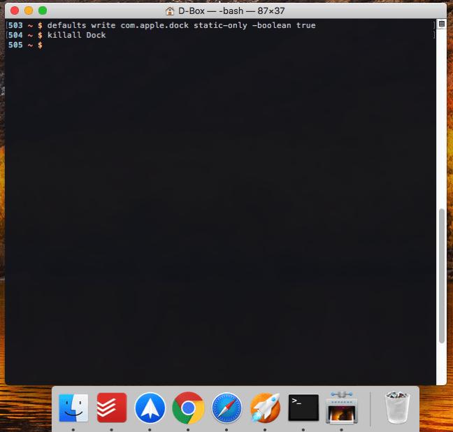 Mac Dockに起動中のアプリのみ表示