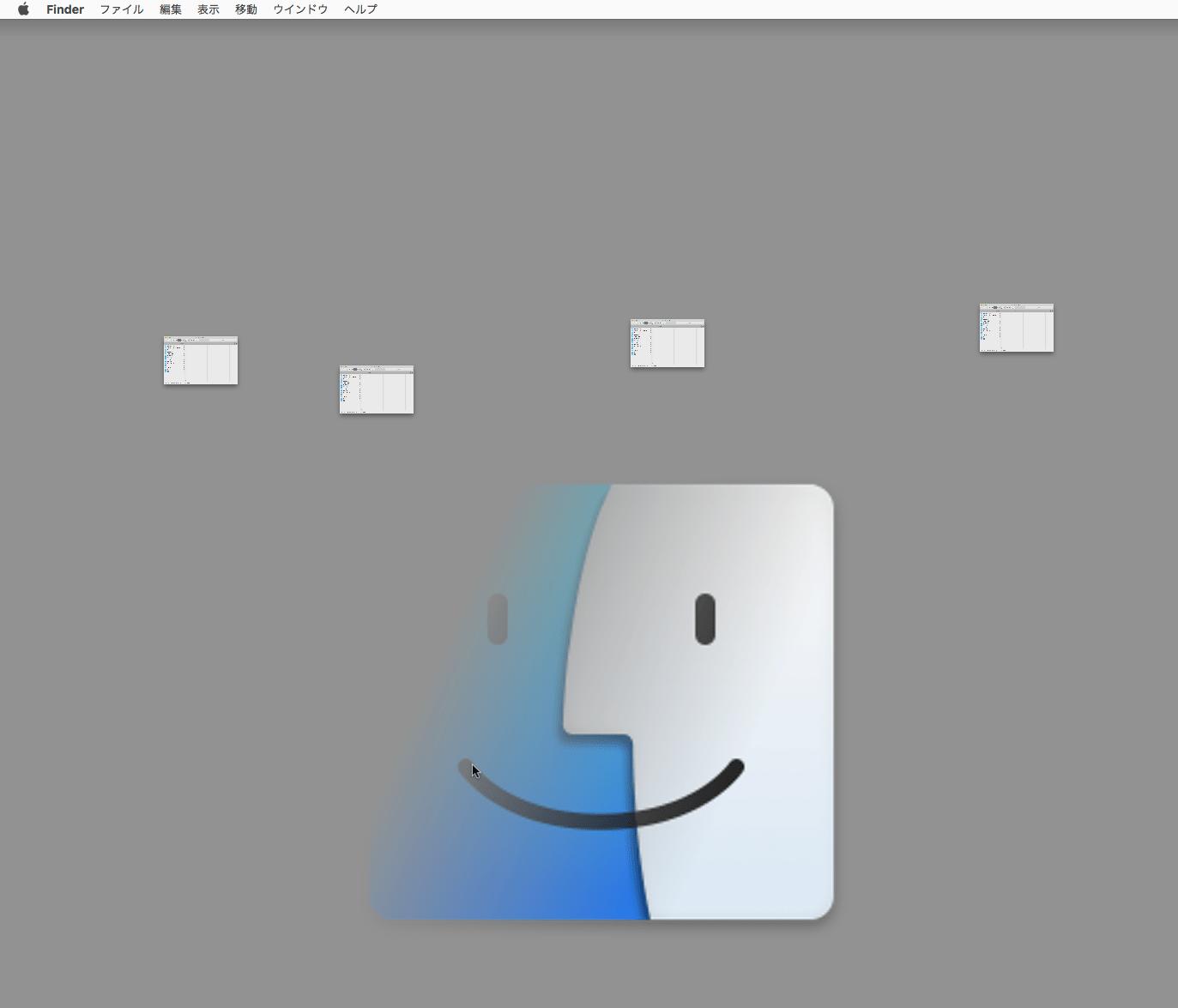 Macで小さなFinder画面がデスクトップに残ってしまう時の対処法