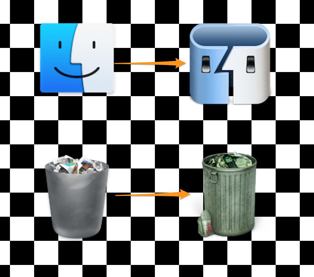 MacのFinderやゴミ箱アイコンを変更する方法-アイキャッチ